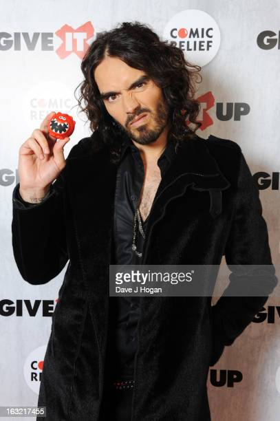 Russell Brand attends 'Give It Up For Comic Relief' at Wembley Arena on March 6 2013 in London England