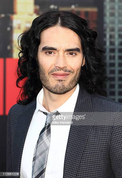 Russell Brand attends the European premiere of 'Arthur' at Cineworld 02 on April 19 2011 in London England