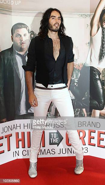 Russell Brand attends the Irish Premiere of 'Get Him To The Greek' on June 22 2010 in Dublin Ireland