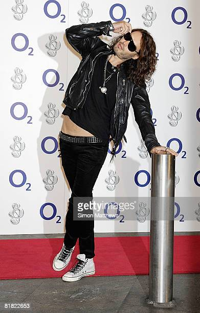 Russell Brand attends the O2 Silver Clef Lunch at the Park Lane Hilton on July 4, 2008 in London, England.