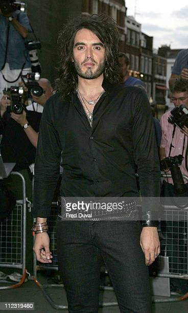 Russell Brand during GQ Men of the Year Awards - Arrivals at Royal Opera House in London, Great Britain.