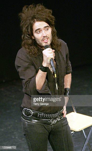 Russell Brand during Russell Brand Shame Tour November 5 2006 at City Varieties Music Hall in Leeds Great Britain