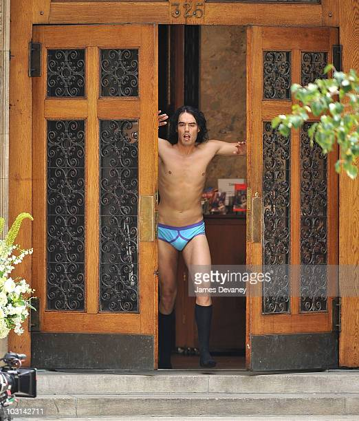 Russell Brand filming on location for Arthur on the streets of Manhattan on July 28 2010 in New York City