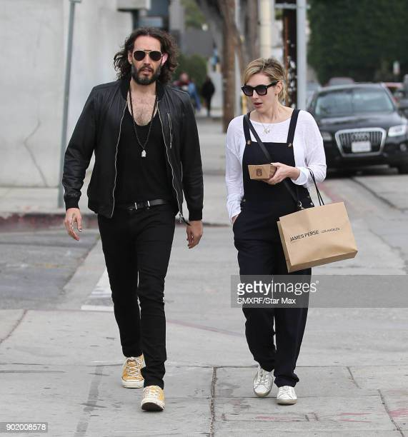 Russell Brand is seen on January 6 2018 in Los Angeles CA