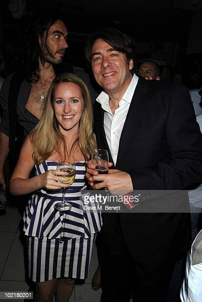 Russell Brand Katie Banks and Jonathan Ross attend the PreWimbledon Party at The Roof Gardens on June 17 2010 in London England