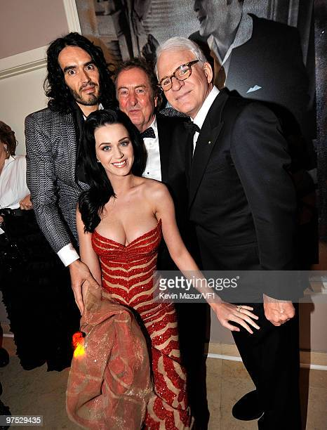 Russell Brand, Katy Perry and Steve Martin attends the 2010 Vanity Fair Oscar Party hosted by Graydon Carter at the Sunset Tower Hotel on March 7,...