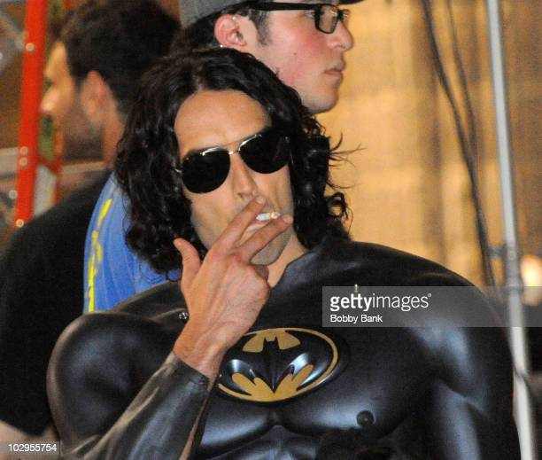 Russell Brand on location for 'Arthur'on Streets of Manhattan on July 17 2010 in New York City