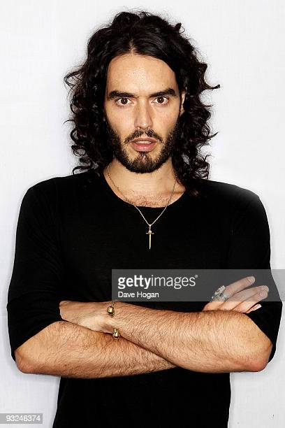 Russell Brand poses for portraits to promote his new DVD 'Scandalous Live At The 02' on November 13 2009 in London England