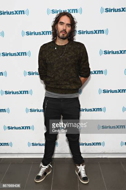 Russell Brand visits the SiriusXM Studios on October 4 2017 in New York City