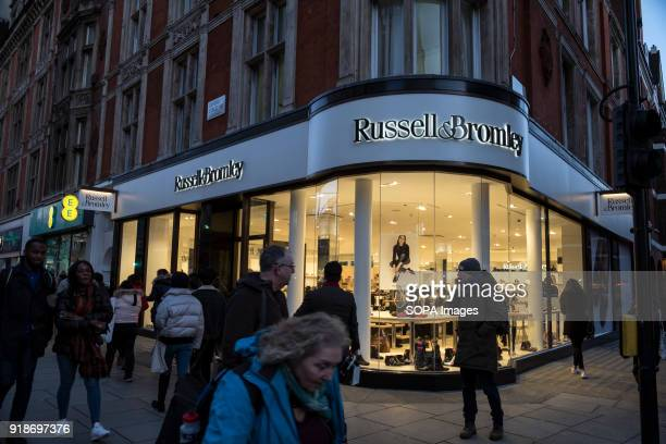 Russell Bromley store seen in London famous Oxford street Central London is one of the most attractive tourist attraction for individuals whose...