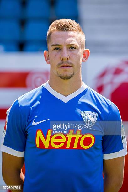 Russell Canouse poses during the official team presentation of VfL Bochum on July 19 2016 at Vonovia Ruhrstadion in Bochum Germany