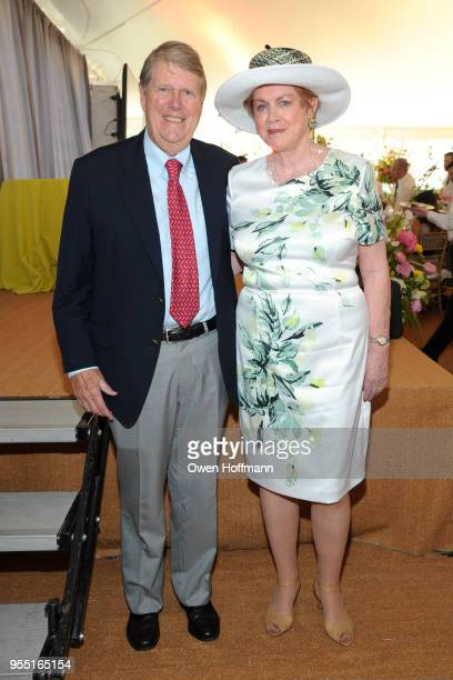 Russell Carson and Judy Carson attend 36th Annual Frederick Law Olmsted Awards Luncheon Central Park Conservancy at The Conservatory Garden in...
