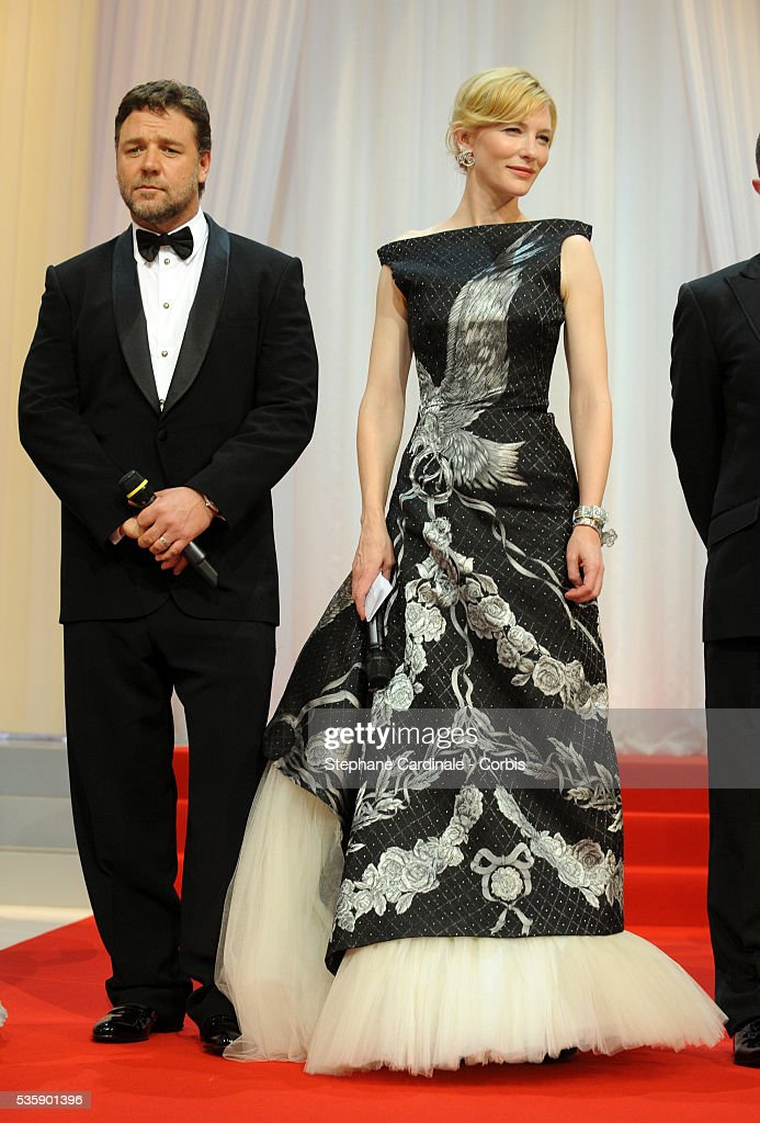 Russell Crowe and Cate Blanchett at the Opening Ceremony of the 63rd Cannes International Film Festival