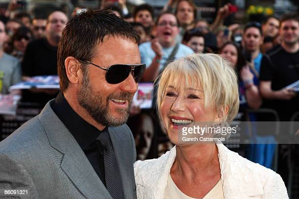 Russell Crowe and Helen Mirren arrive at the World Premiere of 'State of Play' at The Empire Cinema Leicester Square on April 21 2009 in London...