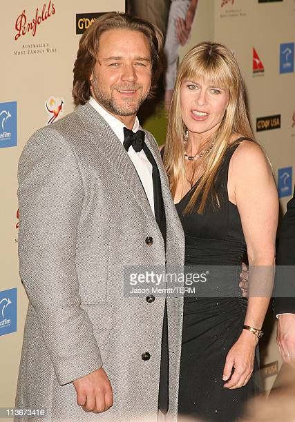 Russell Crowe and Terri Irwin during 2007 Australia Week Gala Arrivals in Los Angeles California United States