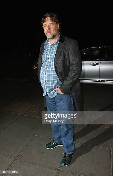 Russell Crowe appears on the Late Late Show on March 20 2015 in Dublin Ireland