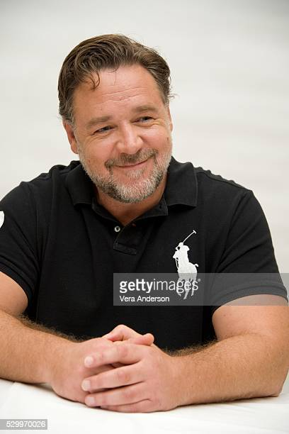 Russell Crowe at the 'Nice Guys' Press Conference at the Four Seasons Hotel on April 26 2016 in Beverly Hills California