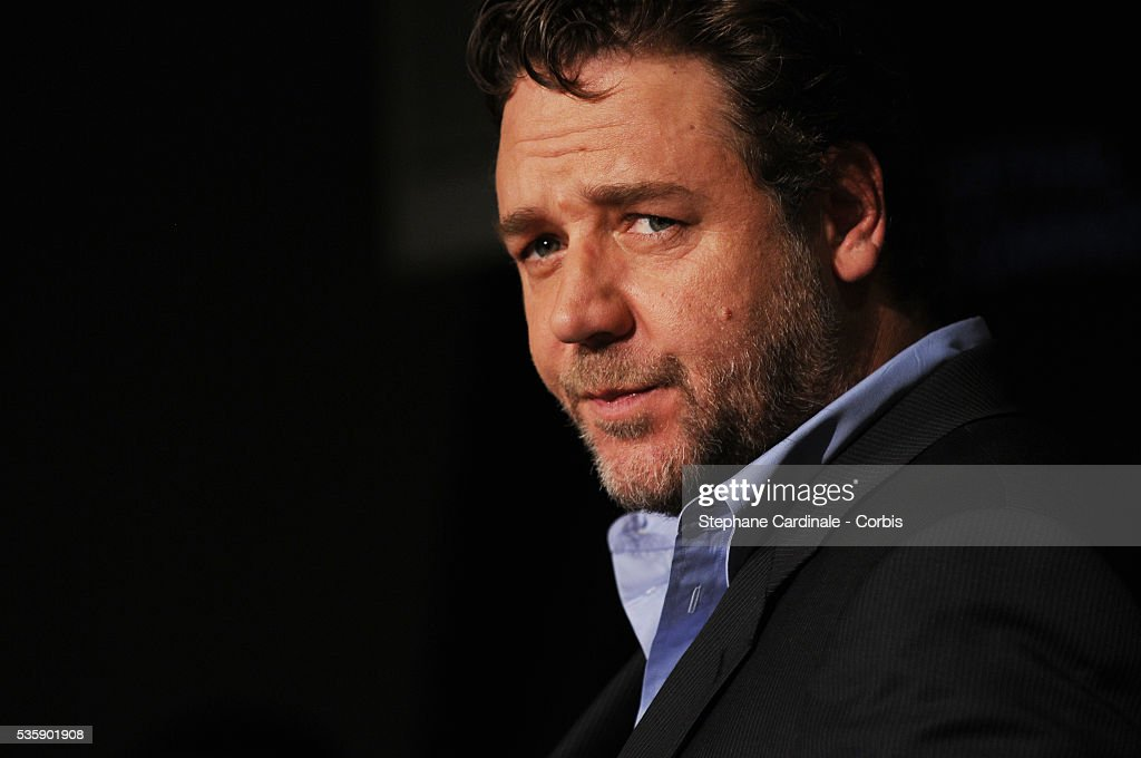 Russell Crowe at the press conference for ?Robin Hood? during the 63rd Cannes International Film Festival.