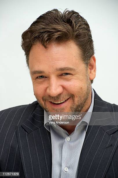 Russell Crowe at the 'Robin Hood' Press Conference at The Four Seasons on April 23 2010 in Beverly Hills California