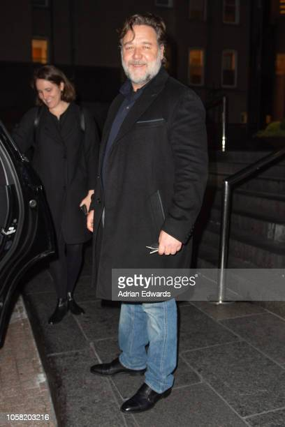 Russell Crowe attends a screening of Boy Erased on October 22 2018 in New York City