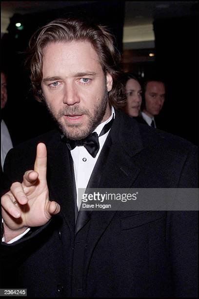 Russell Crowe attends the BAFTA Party at Grosvenor House Hotel on 2/25/01 Photo by Dave Hogan/MP/Getty Images