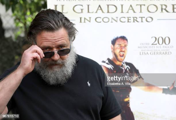 Russell Crowe attends the 'Il Gladiatore In Concerto' presentation on June 5 2018 in Rome Italy