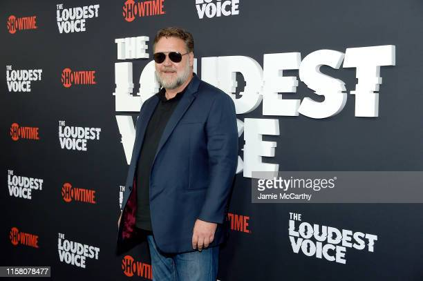 Russell Crowe attends The Loudest Voice New York Premiere at Paris Theatre on June 24 2019 in New York City