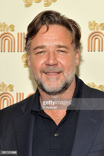 Russell Crowe attends The Nice Guys New York screening at Metrograph on May 12 2016 in New York City