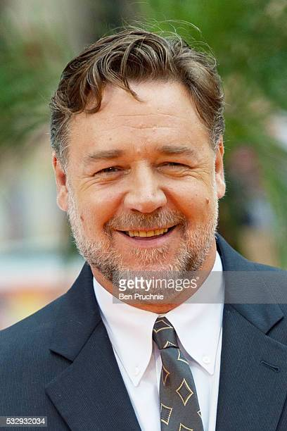 Russell Crowe attends 'The Nice Guys' UK premiere at Odeon Leicester Square on May 19 2016 in London England