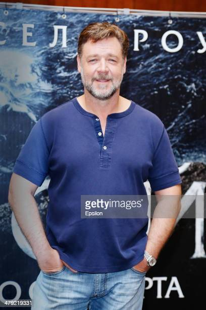 Russell Crowe attends the 'Noah' photo call at Lotte Hotel on March 17 2014 in Moscow Russia