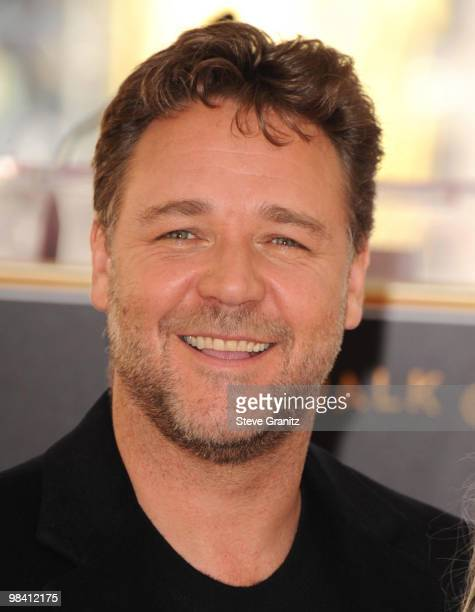 Russell Crowe attends the Russell Crowe Hollywood Walk Of Fame Induction Ceremony on April 12, 2010 in Hollywood, California.