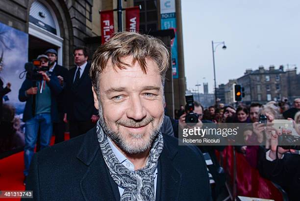 Russell Crowe attends the Scottish Fan Premiere of 'NOAH' at Filmhouse on March 29 2014 in Edinburgh United Kingdom
