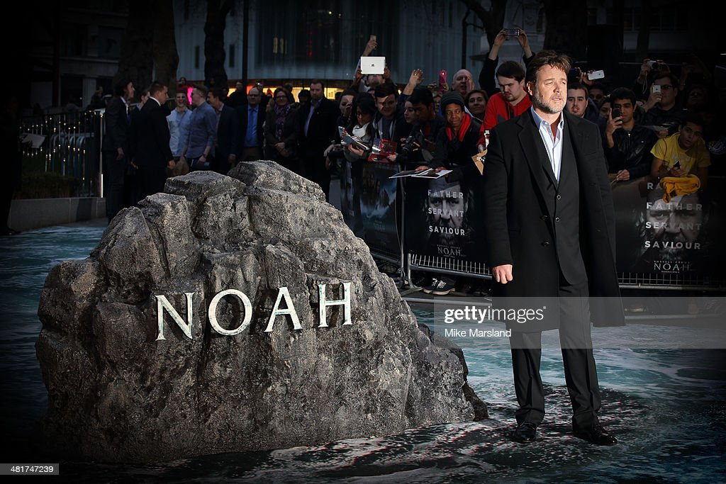 Russell Crowe attends the UK premiere of 'Noah' at Odeon Leicester Square on March 31, 2014 in London, England.