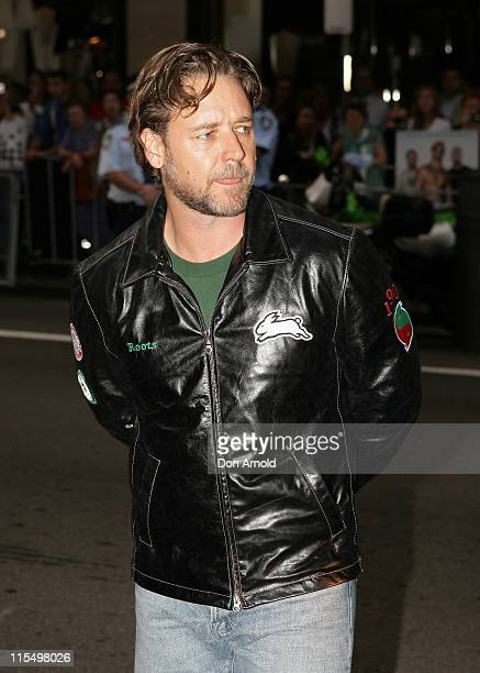 Russell Crowe during Bra Boys Sydney Premiere Arrivals at State Theatre in Sydney NSW Australia