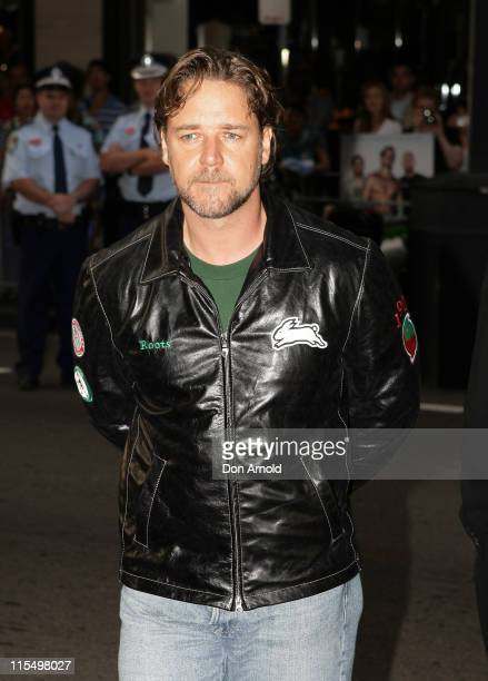 Russell Crowe during 'Bra Boys' Sydney Premiere Arrivals at State Theatre in Sydney NSW Australia