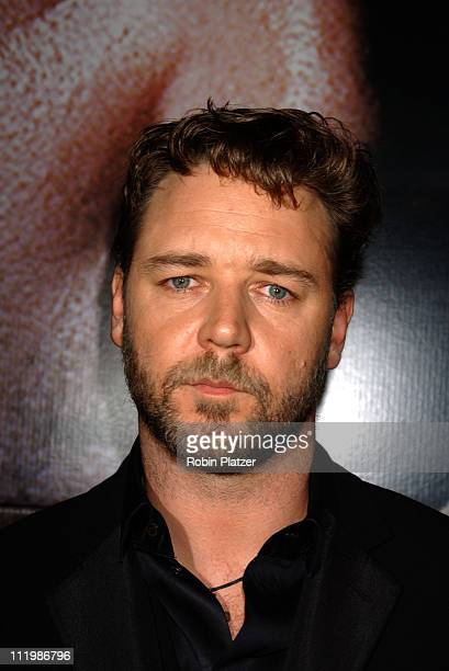 Russell Crowe during 'Master and Commander The Far Side of The World' New York Screening Arrivals at The Beekman Theatre in New York City New York...