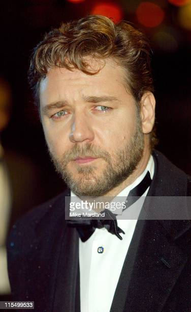 """Russell Crowe during """"Master & Commander: Far Side Of The World"""" - 2003 CTBF Royal Film Performance at Odeon Cinema, Leicester Sq in London, Great..."""