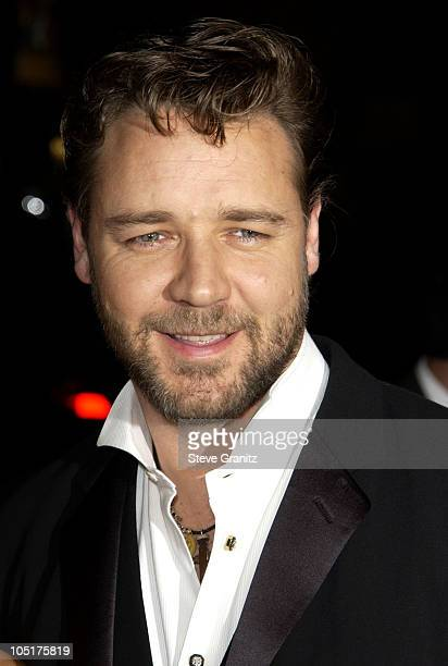 Russell Crowe during 'Master Commander The Far Side of the World' Los Angeles Premiere at Academy Theatre in Beverly Hills California United States