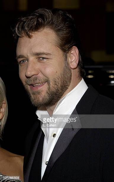 """Russell Crowe during """"Master & Commander: The Far Side of the World"""" Los Angeles Premiere - Red Carpet at Samuel Goldwyn Theater in Beverly Hills,..."""