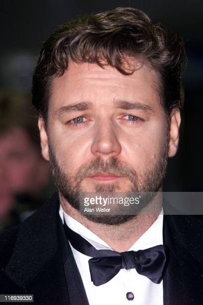 """Russell Crowe during Royal Film Performance of """"Master and Commander -The Far Side of the World"""" at Odeon, Leicester Square in London, United Kingdom."""