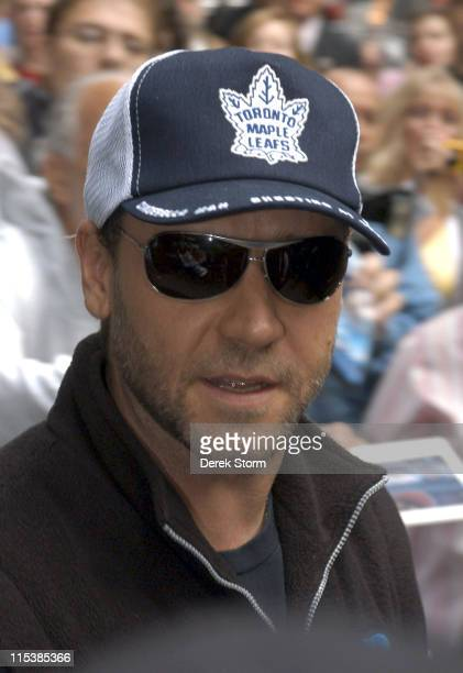 Russell Crowe during Russell Crowe Visits 'Good Morning America' June 1 2005 at ABC Studios in New York City New York United States
