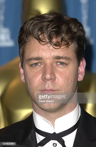 Russell Crowe during The 73rd Annual Academy Awards Press Room at Shrine Auditorium in Los Angeles California United States