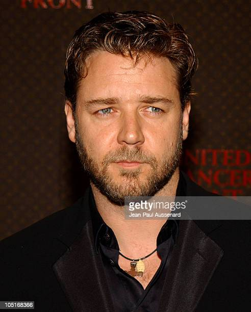 Russell Crowe during The Louis Vuitton United Cancer Front Gala Arrivals at Private Residence in Holmby Hills California United States
