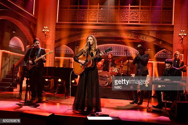 """Russell Crowe"""" Episode 1700 -- Pictured: Musical guest Margo Price performs on April 9, 2016 --"""
