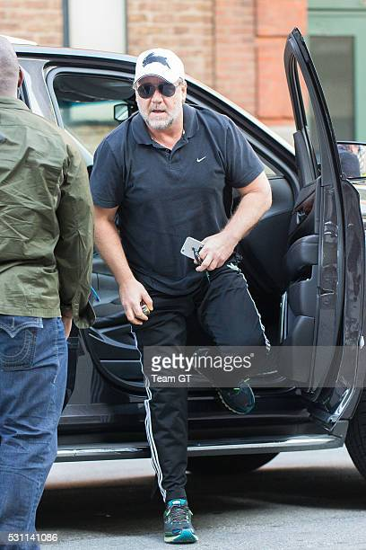 Russell Crowe is seen arriving to his New York Hotel on May 12 2016 in New York City