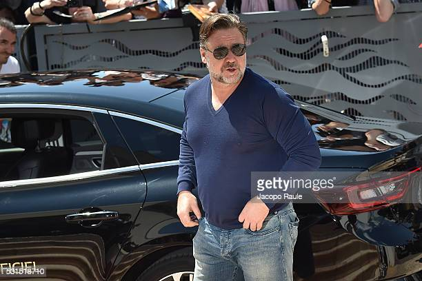 Russell Crowe is seen during the annual 69th Cannes Film Festival at on May 15 2016 in Cannes France