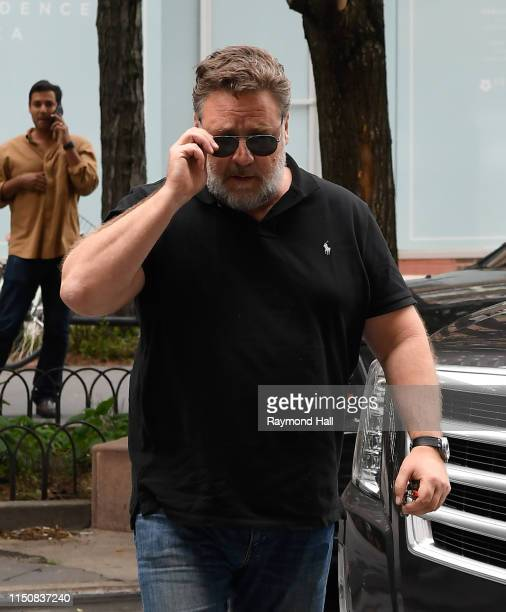 Russell Crowe is seen in Tribeca on June 19 2019 in New York City