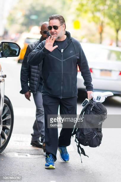 Russell Crowe is seen in Tribeca on October 23 2018 in New York City