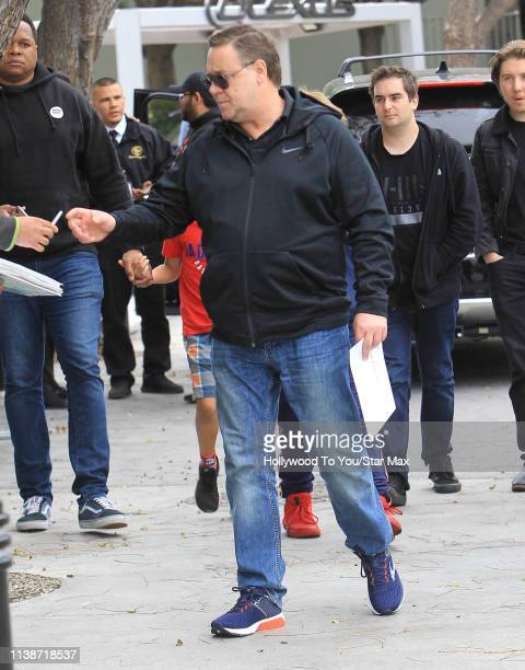 Russell Crowe is seen on April 21 2019 in Los Angeles California