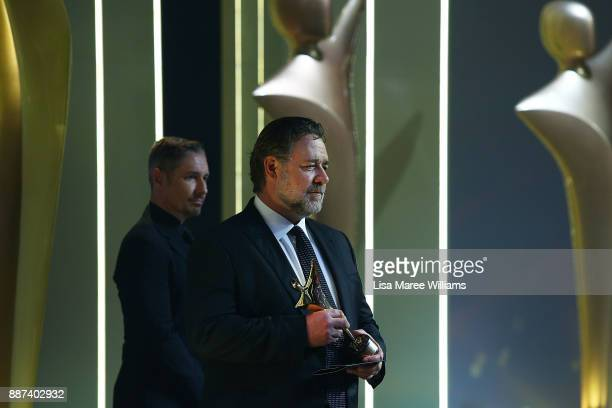 Russell Crowe presents the AACTA Award for Best Asian Film Presented By PR Asia during the 7th AACTA Awards Presented by Foxtel at The Star on...